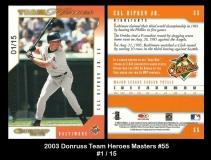 2003 Donruss Team Heroes Masters #55
