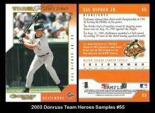 2003 Donruss Team Heroes Samples #55