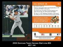 2003 Donruss Team Heroes Stat Line #55