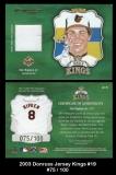 2003 Donruss Jersey Kings #19
