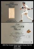 2003 Flair Greats Sweet Swatch Classic Bat #12
