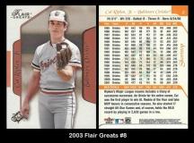 2003 Flair Greats #8