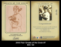 2003 Flair Greats of the Grain #7