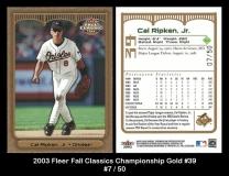 2003 Fleer Fall Classics Championship Gold #39