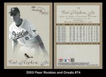2003 Fleer Rookies and Greats #74