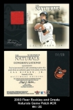 2003 Fleer Rookies and Greats Naturals Game Patch #CR