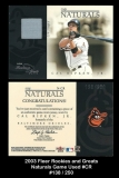 2003 Fleer Rookies and Greats Naturals Game Used #CR