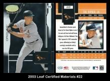 2003 Leaf Certified Materials #22
