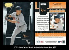 2003 Leaf Certified Materials Samples #22