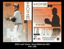 2003 Leaf Home Away Materials #2H