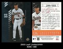 2003 Leaf Limited #161