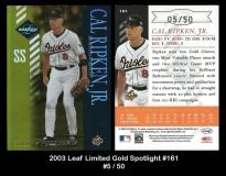 2003 Leaf Limited Gold Spotlight #161