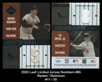 2003 Leaf Limited Jersey Numbers #85