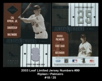 2003 Leaf Limited Jersey Numbers #99