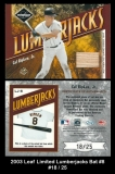 2003 Leaf Limited Lumberjacks Bat #8