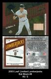 2003 Leaf Limited Lumberjacks Bat Black #8