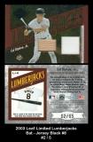 2003 Leaf Limited Lumberjacks Bat Jersey Black #8