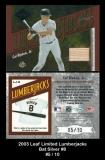 2003 Leaf Limited Lumberjacks Bat Silver #8