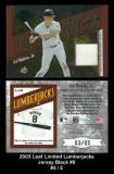 2003 Leaf Limited Lumberjacks Jersey Black #8