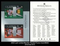2003 Leaf Limited Moniker Parallel Promo Card #NNO