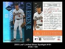 2003 Leaf Limited Silver Spotlight #161