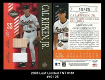 2003 Leaf Limited TNT #161