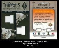 2003 Leaf Limited Team Threads #28