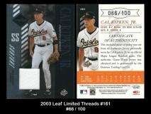 2003 Leaf Limited Threads #161