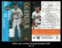 2003 Leaf Limited Threads Number #161