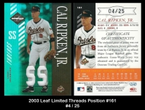 2003 Leaf Limited Threads Position #161