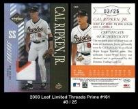 2003 Leaf Limited Threads Prime #161