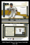 2003 Playoff Piece of the Game Gold #83