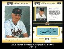 2003 Playoff Portraits Autographs Gold #62