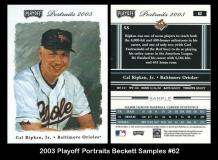 2003 Playoff Portraits Beckett Samples #62