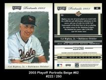 2003 Playoff Portraits Beige #62