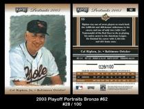 2003 Playoff Portraits Bronze #62
