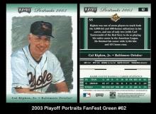 2003 Playoff Portraits FanFest Green #62