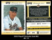 2003 Playoff Portraits Gold #62