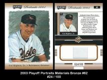 2003 Playoff Portraits Materials Bronze #62