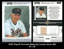 2003 Playoff Portraits Materials Combo Silver #62