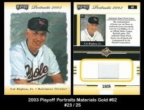 2003 Playoff Portraits Materials Gold #62