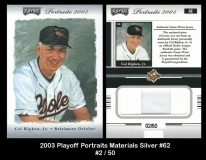2003 Playoff Portraits Materials Silver #62