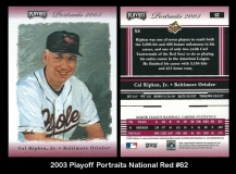 2003 Playoff Portraits National Red #62