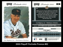 2003 Playoff Portraits Promos #62