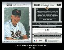 2003 Playoff Portraits Silver #62