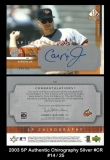 2003 SP Authentic Chirography Silver #CR