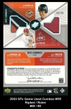 2003 SPx Game Used Combos #RR