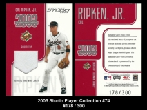 2003 Studio Players Collection #74