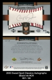 2003 Sweet Spot Classics Autographs Black Ink #CR