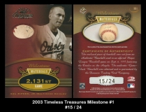 2003 Timeless Treasures Milestone #1